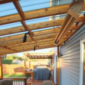 Chauffage pour patio en bois
