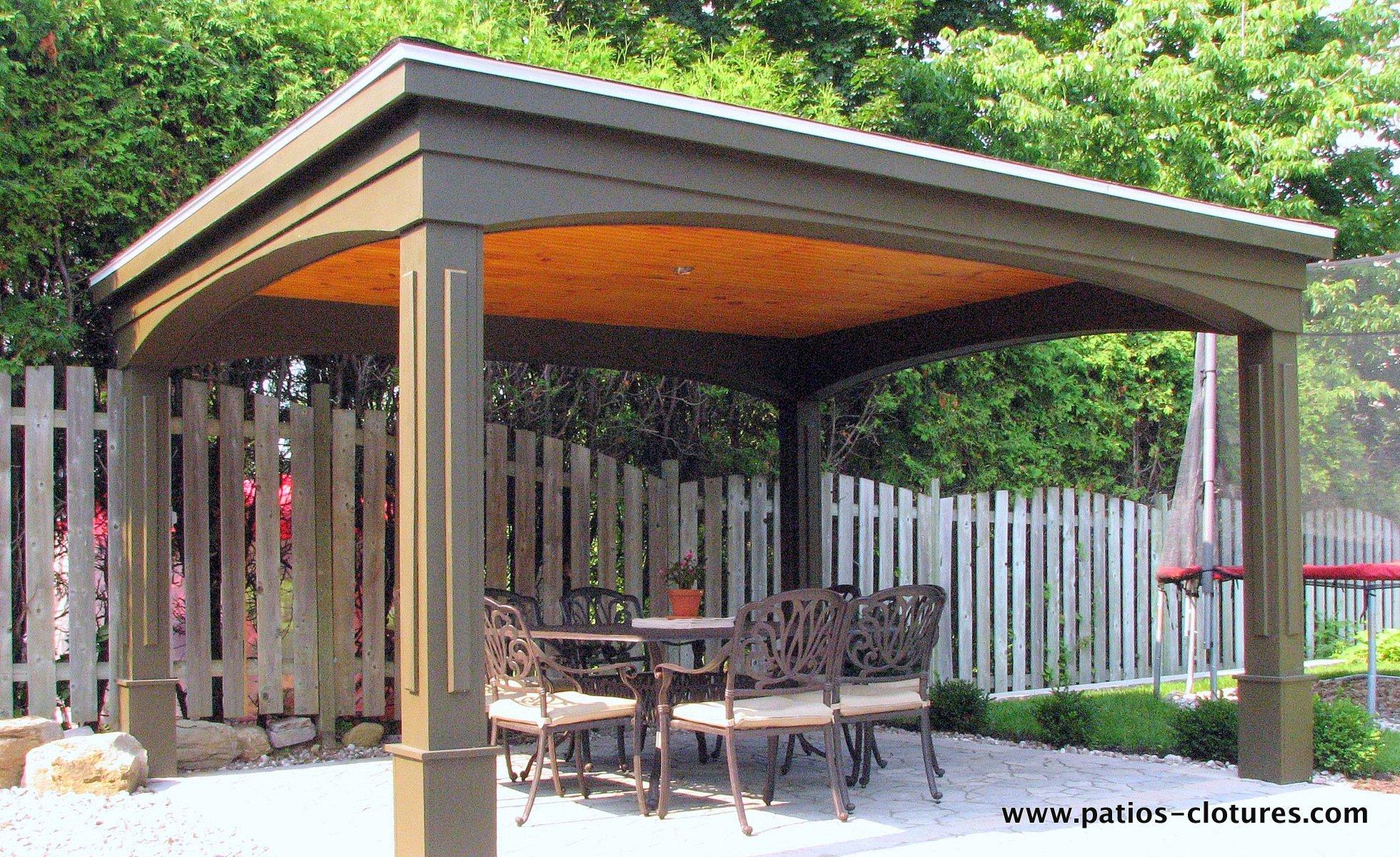 Gaz bo lafontaine patios et cl tures beaulieu for Toit patio bois
