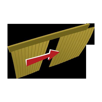 Portes coulissantes en cèdre