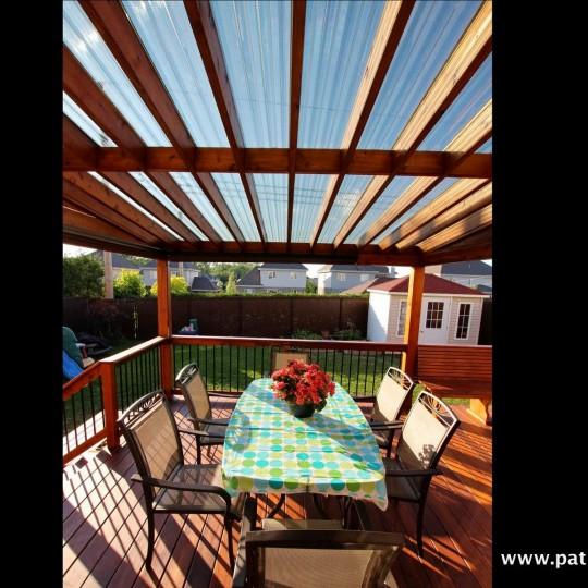 Patio en bois terrasse en bois montr al patios et for Patio terrasse plan
