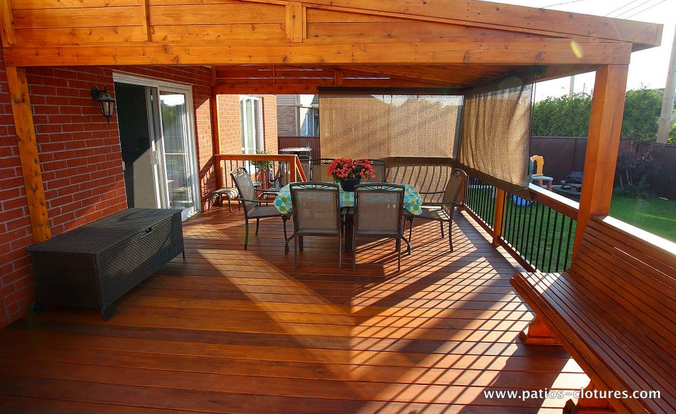 Waterproof pergola above the dining area