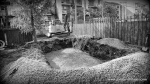 Excavation for the Fibro pool