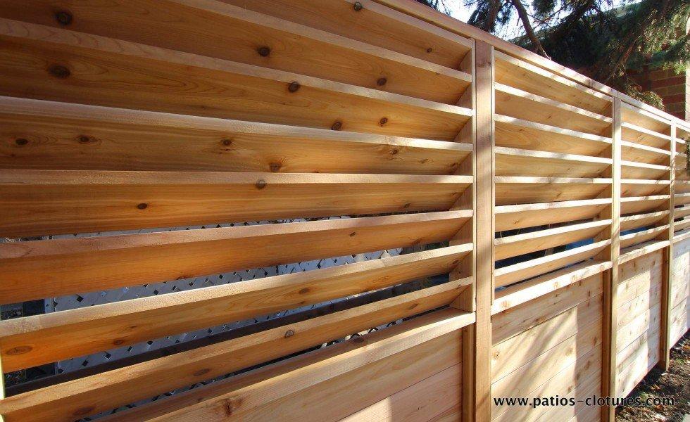 cl ture palissade et persiennes horizontales fixes patios et cl tures beaulieu. Black Bedroom Furniture Sets. Home Design Ideas