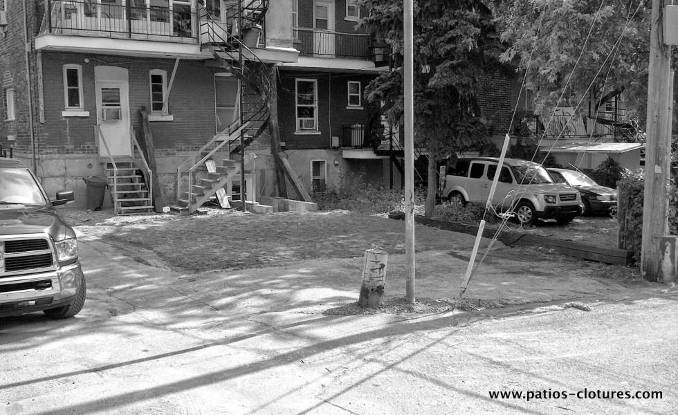 Avant la construction de la clôture