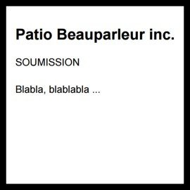 Soumission Patio Beauparleur