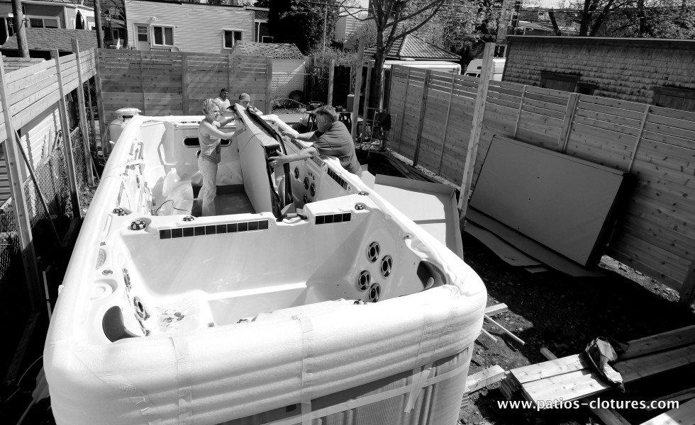 Opening the Vandal swim spa