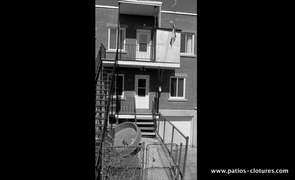 Two balconies with straight staircase - before 2
