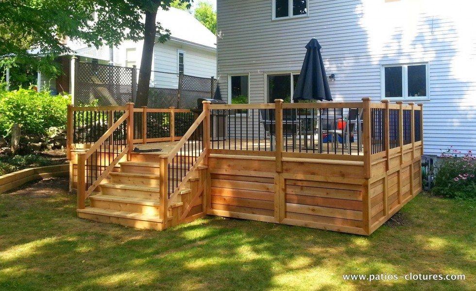 Classic red cedar deck