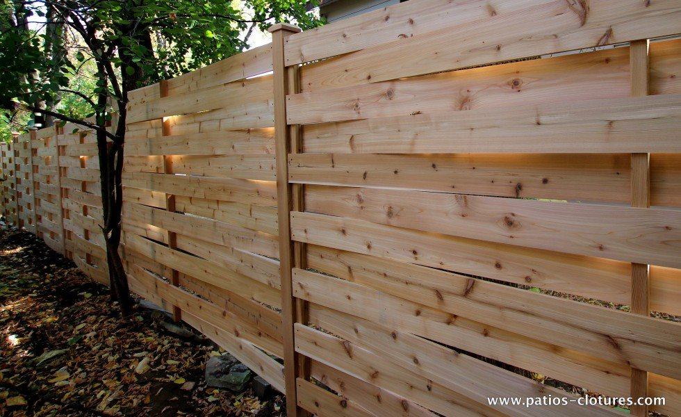 A fence with texture, the basket weave fence style