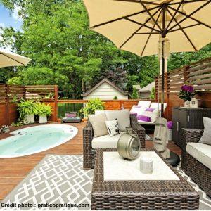 La taille idéale d'un patio en bois