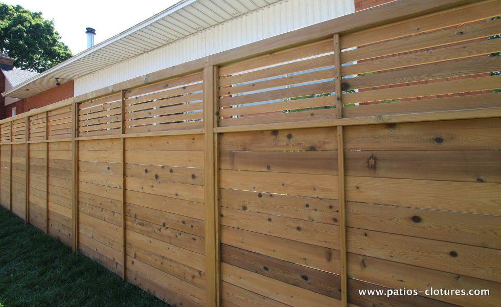 Cedar fence Peek-a-boo style