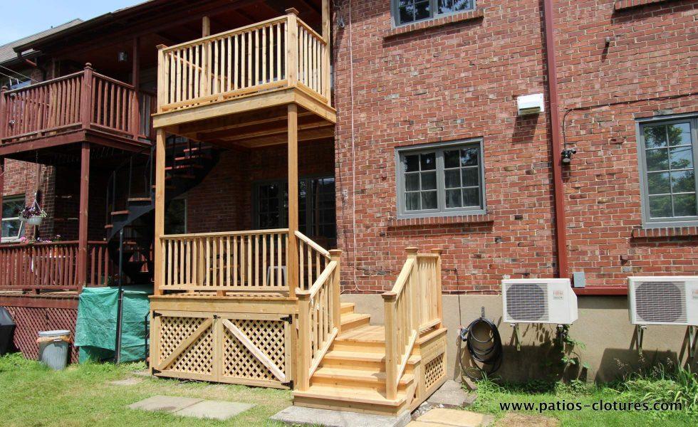 Two level cedar balconies Palmer