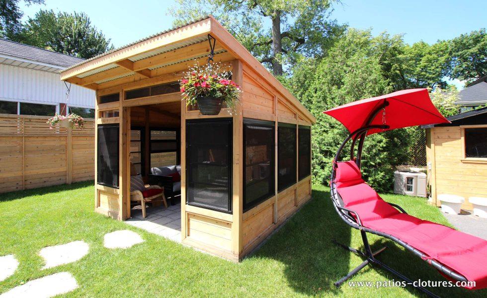 Cedar gazebo lounge La France