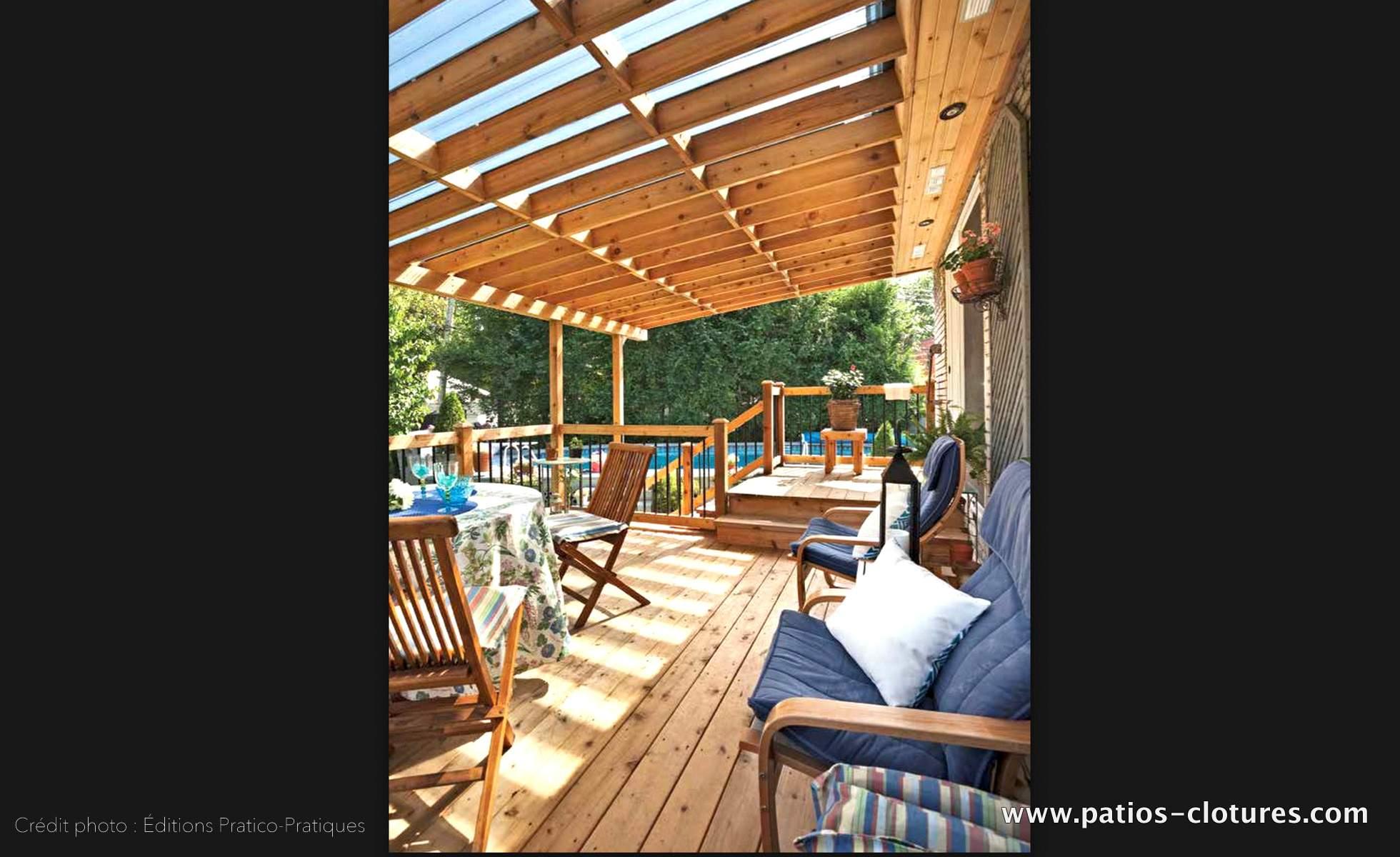 Toit pergola amazing pergola adosse ajustable toit de for Toit patio bois