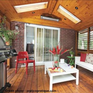 puit de lumière pour toit de patio