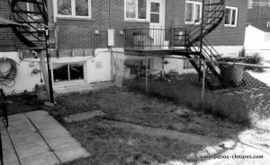 Before the construction of Blanchette patio. Photo 1.