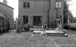 Avant la construction du patio Sylvie.