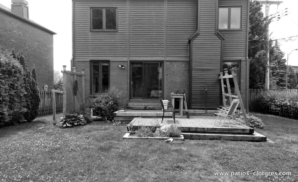 Avant la construction du patio Sylvie.