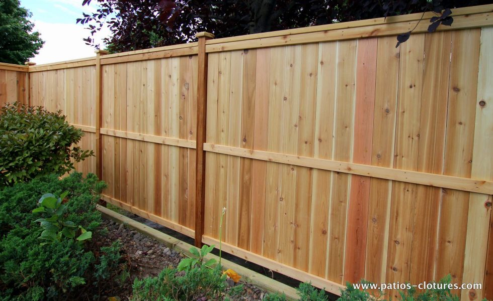 Vertical intimate cedar fence