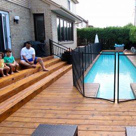 Clôture sécuritaire et économique pour piscine