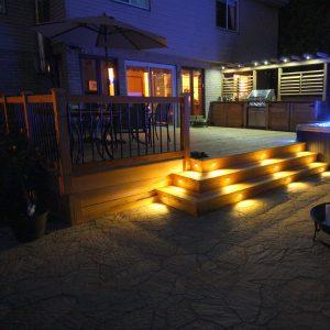 Éclairage pour patio