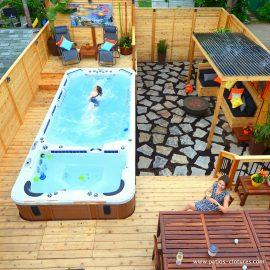 Modèle de patio en bois