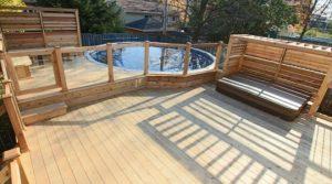 patio avec piscine hors terre