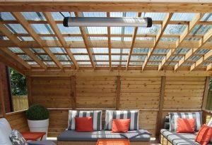 Chauffage radiant électrique pour patio