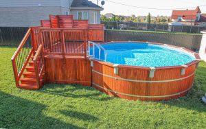 Deck de piscine hors terre (deck Isabelle)