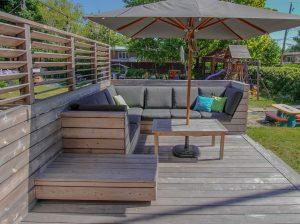 Lounge sur mesure aux dimensions des coussins achetés avant (patio Blanchette)