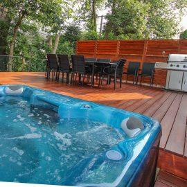 Patio en ipé avec spa intégré (patio David)