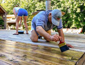 entretien d'un patio en bois