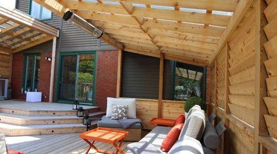 profiter du patio : un patio lounge avec chauffage radiant électrique