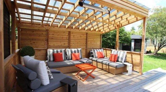 mobilier de patio confort pour patio en bois: le couch, sofa, fauteuil