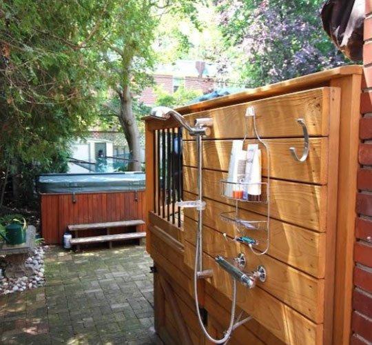 douche extérieure pour patio terrasse