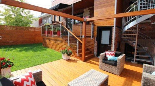 mobilier de patio avec pergola et crochets pour hamac