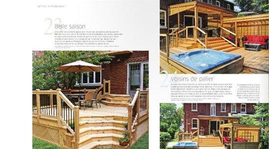 patios en bois dans la presse magazine - Patios et Clôtures Beaulieu