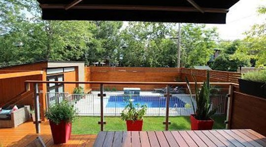 patio avec auvent rétractable