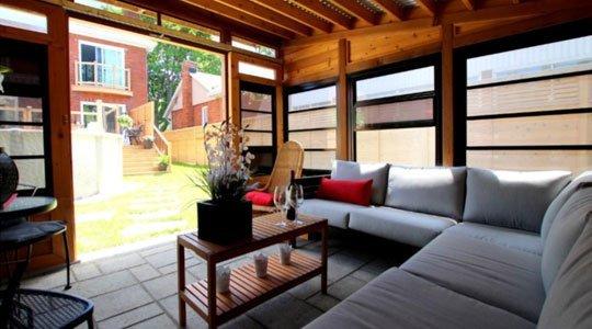 Patio gazébo avec moustiquaires intégrés - Patios et Clôtures Beaulieu
