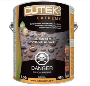 L'huile Cutek pour protéger votre patio en cèdre ou en ipé