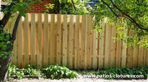 Good neighbor cedar fence 5' high with 2 horizontal 2x4